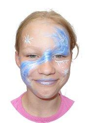 Kinderschminken: eine wunderschöne Wasserfee