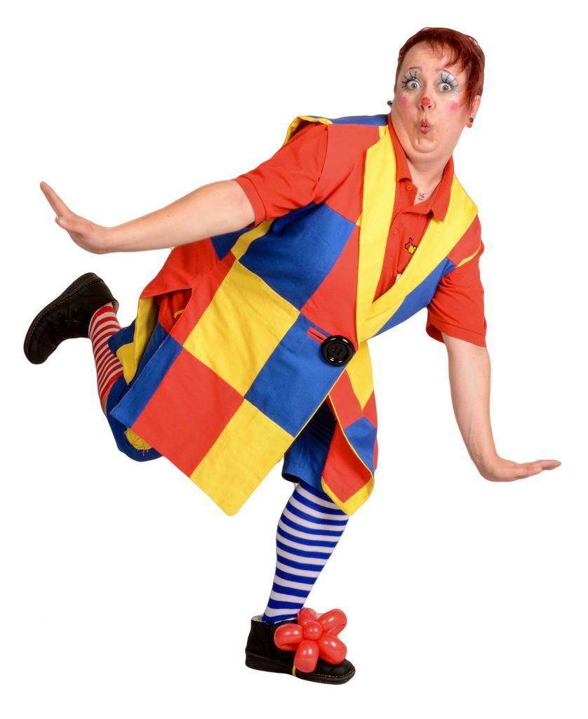 Das macht allen Kindern Spaß: ein Clown, der zum Kindergeburtstag kommt